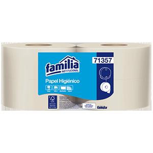 Papel higiénico jumbo natural - Familia Institucional