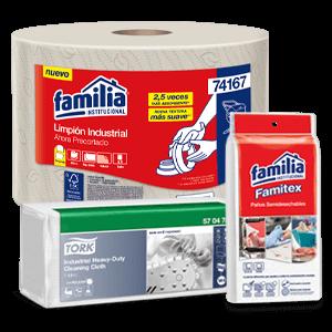 Limpiones y paños de limpieza - Familia Insitucional